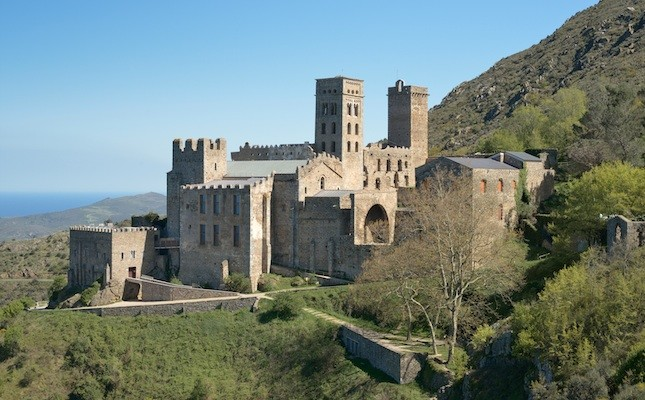 Image of Sant Pere monastery on a hillside